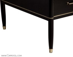 Custom Made Black Lacquered Executive Office Desk