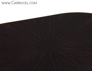 Custom Deco Style Macassar Ebony Oval Dining Table by Carrocel