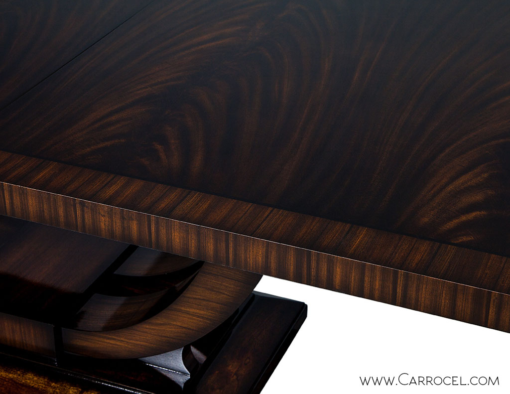 Custom Made Art Deco Mahogany Dining Table With Rosewood