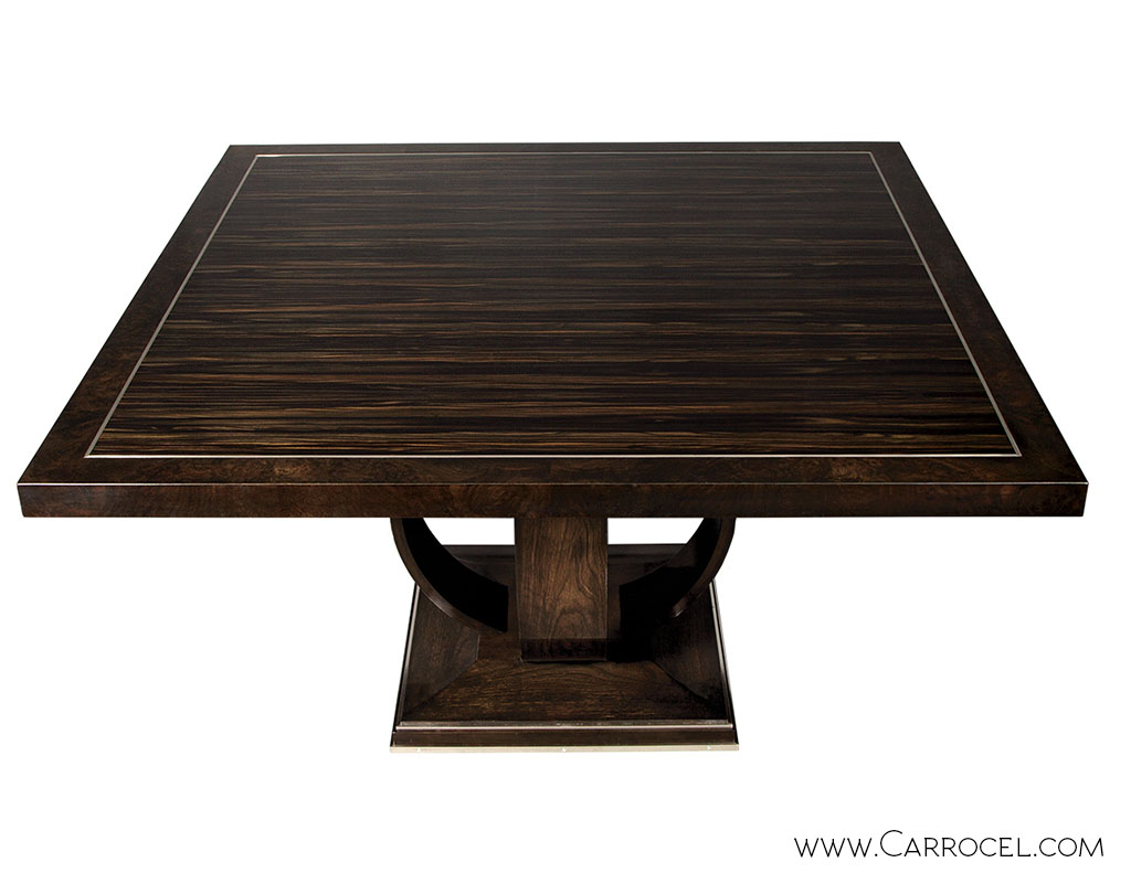 Macassar Ebony Square Walnut Dining Table 1
