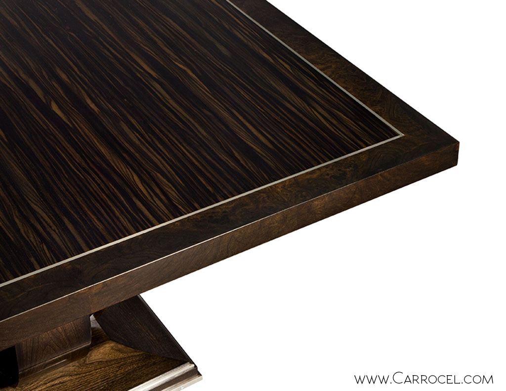 ... Macassar Ebony Square Walnut Dining Table 2 ...