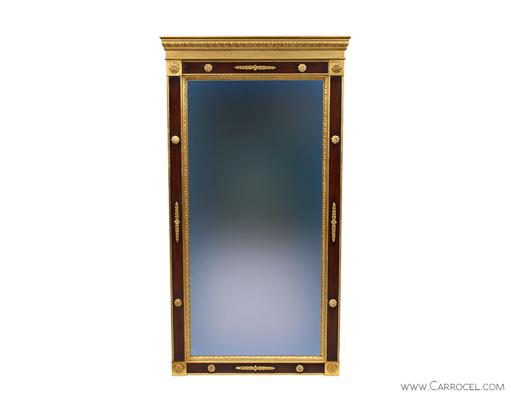 Custom Made Regency Style Gold Leaf Mahogany Mirror 1