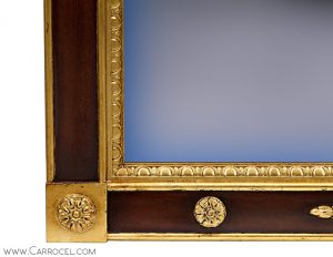 Custom Made Regency Style Gold Leaf Mahogany Mirror