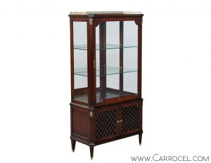 French Mahogany Vitrine