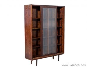 Vintage Rosewood Bookcase
