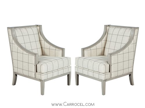 Pair of Spector Custom Accent Lounge Chairs