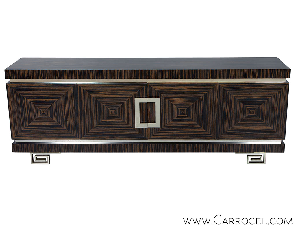 Bow Front Distressed French Country Buffet