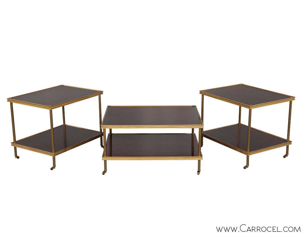 Ralph Lauren Edwardian Brass Cocktail Table