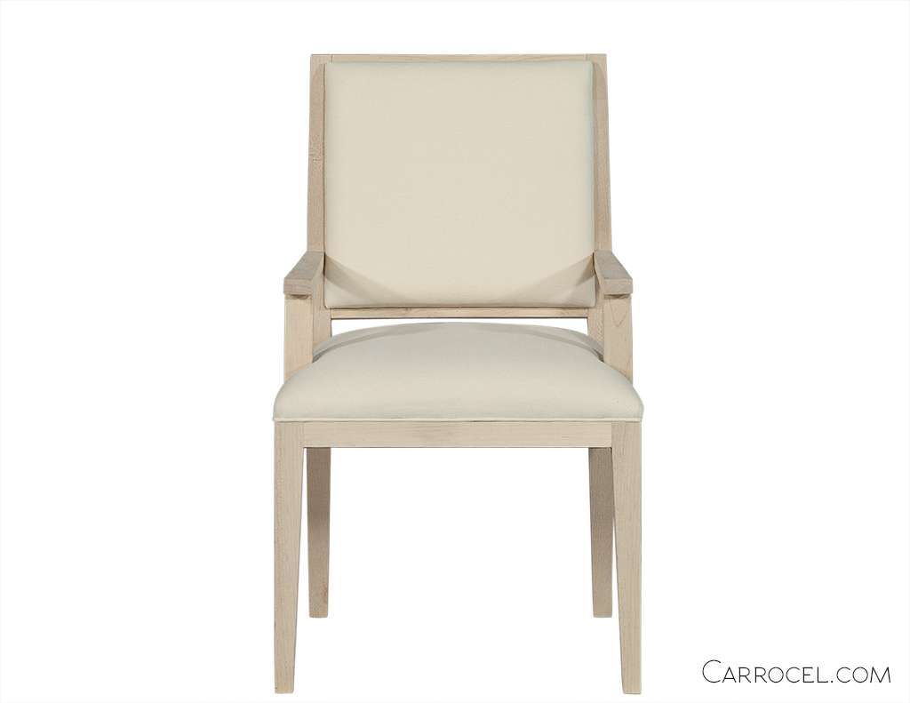 Straight Leg Deco Custom Dining Chair – Arm 1
