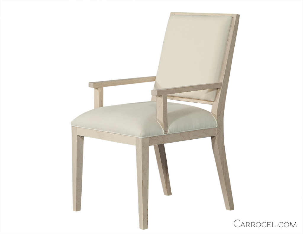 Straight Leg Deco Custom Dining Chair - Arm