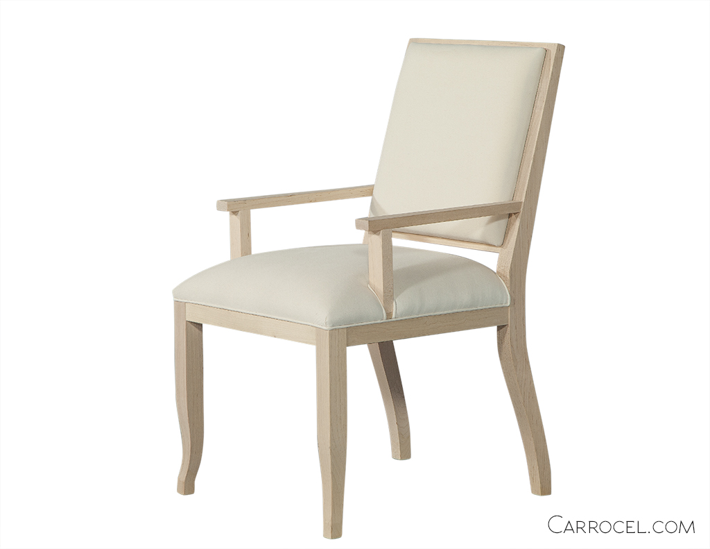 Curved Leg Deco Custom Dining Chair - Arm