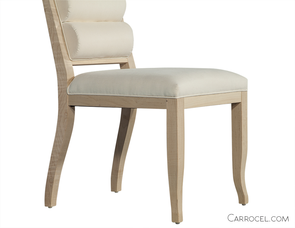 Curved Leg Deco Custom Dining Chair - Side