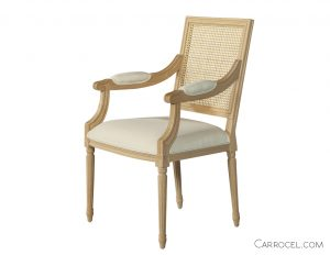Louis Capet Custom Cane Dining Chair - Arm