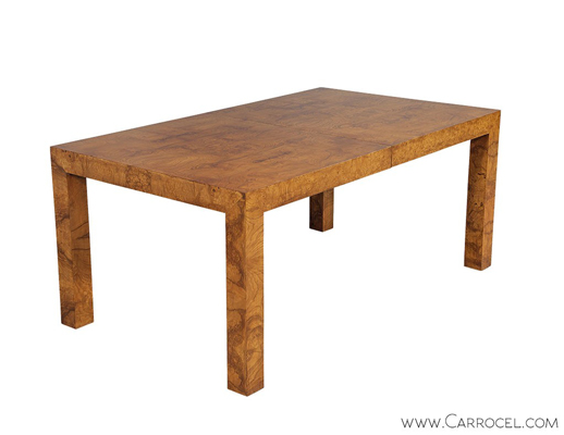 Milo Baughman Burled Dining Table