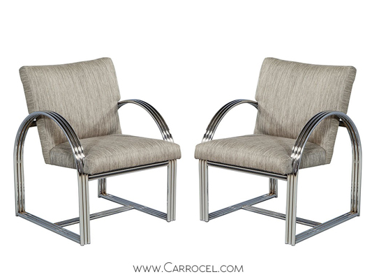 Vintage Chrome Frame Chairs