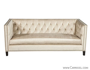 Carrocel's Custom Tufted Sofa