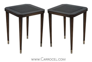 Leather Embossed End Tables