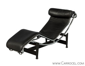 Vintage LC4 Italian Chaise Lounger