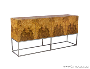 Golden Madrone Modern Sideboard