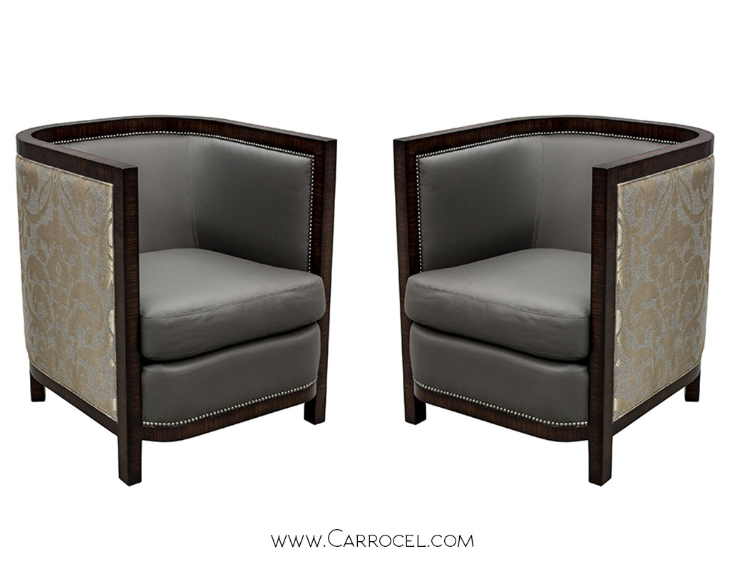 Zebrano Wood Living Room Chairs