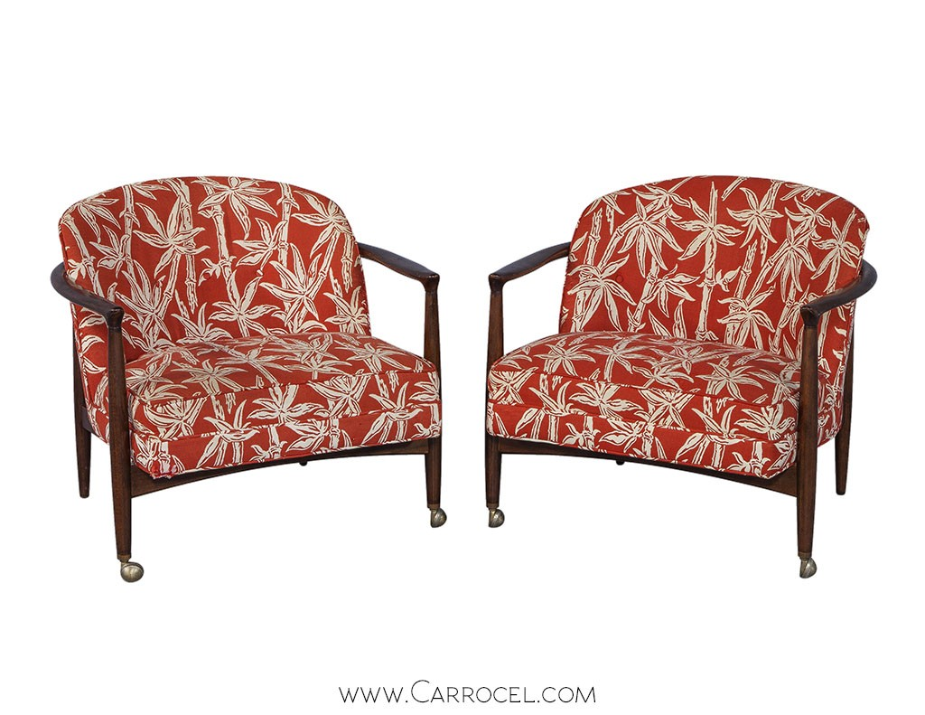 Pair of Mid-Century Accent Chairs by Selig