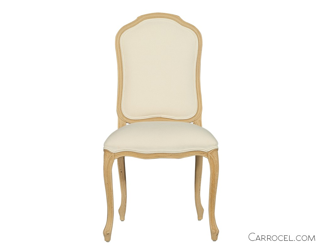 Full Cushioned White Dining Set Chairs