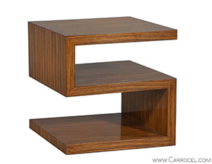 EJ Victor Zebrawood S Shaped End Table by Allison Paladino