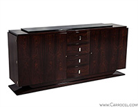 French Hand Polished Rosewood Art Deco Buffet