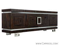 Carrocel Macassar Greek Key Buffet