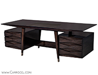 Carrocel Custom Floating Top Mid Century Executive Desk