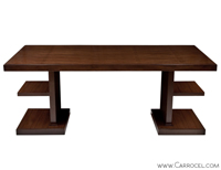 Carrocel Custom Made Walnut Art Deco Office Desk