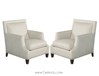 Carrocel Pair of Charlas Custom Lounge Chairs