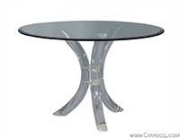 Round Lucite Pedestal Occasional Table