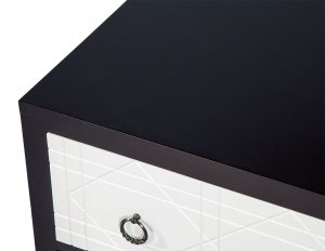 Pair of Geometric Facade Nightstands