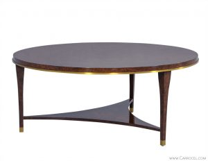 The Crosby Table Round Burled Wood Cocktail Table