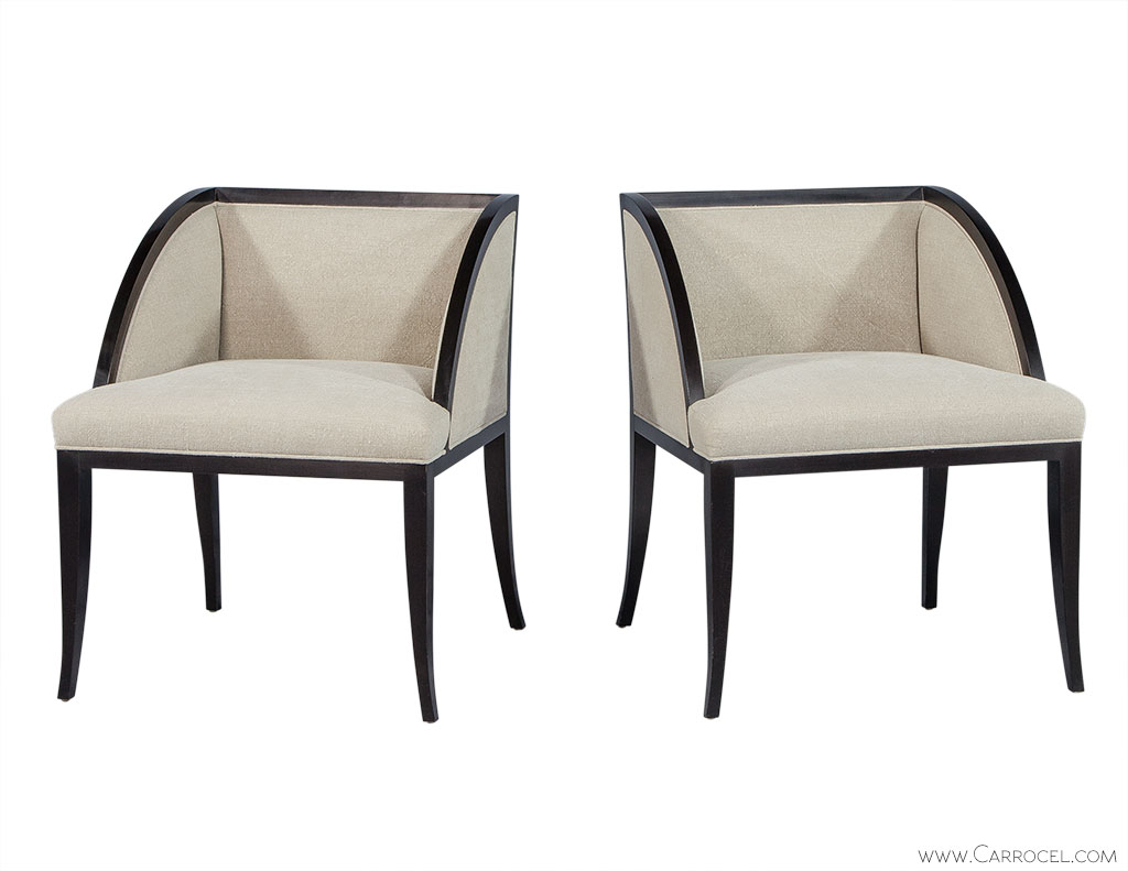 Pair of Baker Palerme Dining Chairs with Ebonized Finish