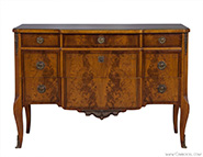 Ruder Feathered Mahogany Commode