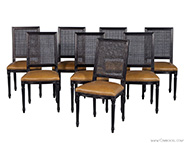 Set of 8 Custom Louis Capet Side Chairs