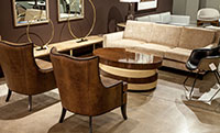 Modern Contemporary Livingroom Suite Deco Influences Carrocel Showroom