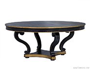 Distressed Black Scroll Leg Dining Table