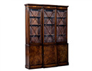 English Style Mahogany Break Front China Cabinet