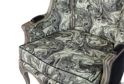 Carrocel Custom Louis XV Marbled Porter Chair
