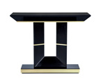 Custom Deco Black Lacquered Console Table