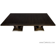 Custom Made Art Deco Macassar Ebony-Dining-Table