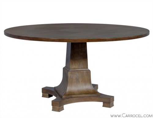 Parquetry Cerused Occasional Table