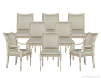 Set of 8 Chinoiserie Style Dining Chairs