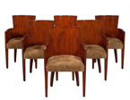 Set of Six Modern Hollywood Armchairs