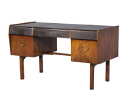 Teak Leather Top Desk by John Widdicomb