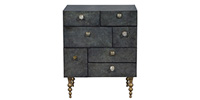 Crescent Night Stand in Black