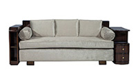 French Art Deco Rosewood Sofa